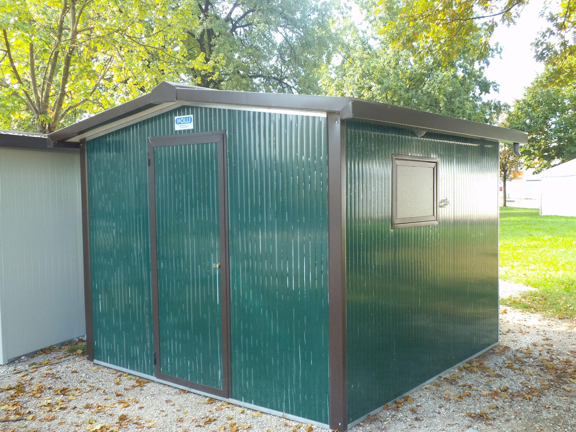 Casette da giardino nolli srl box prefabbricati ponteggi monoblocchi attrezzature edili - Casette in lamiera da giardino ...
